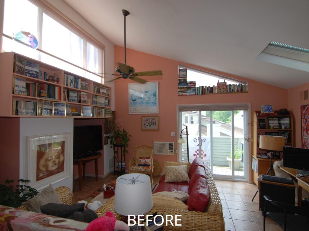 Room before remodeling