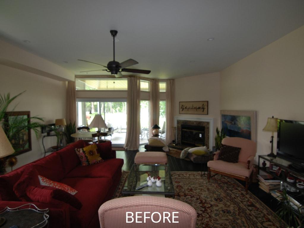 living room before remodel