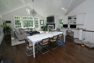 Dining area in Rye NY home addition