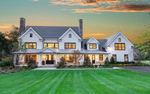 Home design in Greenwich CT modern farmhouse by DeMotte Architects