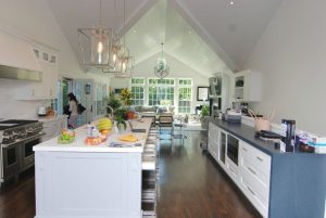Rye NY addition with kitchen and family room by DeMotte Architects