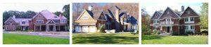 Pound Ridge NY shingle style home designs by DeMotte Architects