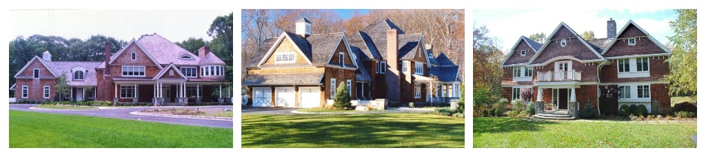 Pound Ridge NY shingle style home designs by DeMotte Architects