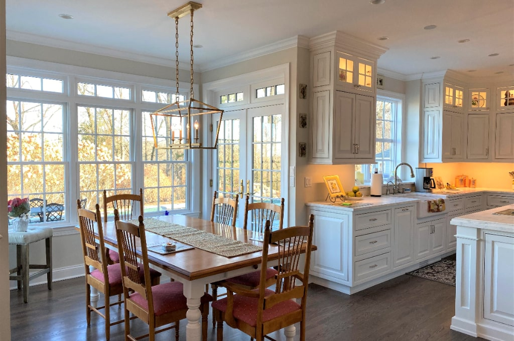 newtown ct home remodel by demotte architects light filled kitchen