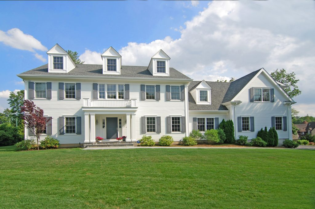 Colonial home design by CT & NY architect DeMotte Architects