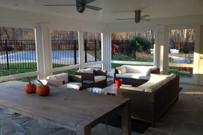 screened porch addition in south salem ny by demotte architects