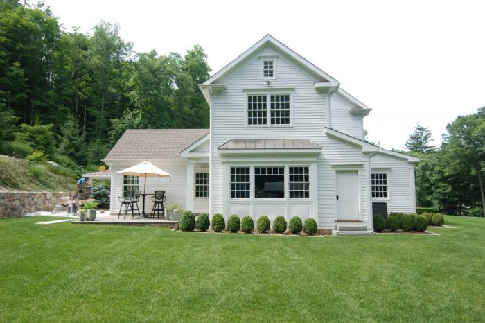side of ridgefield ct home remodel