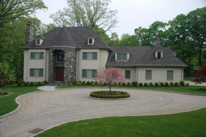greenwich ct custom home front elevation by demotte architects